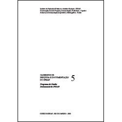 Caderno de Pesquisa e Documentação 5