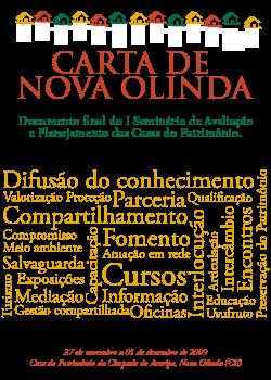 Carta de Nova Olinda - I Seminário de Avaliação e Planejamento das Casas do Patrimônio