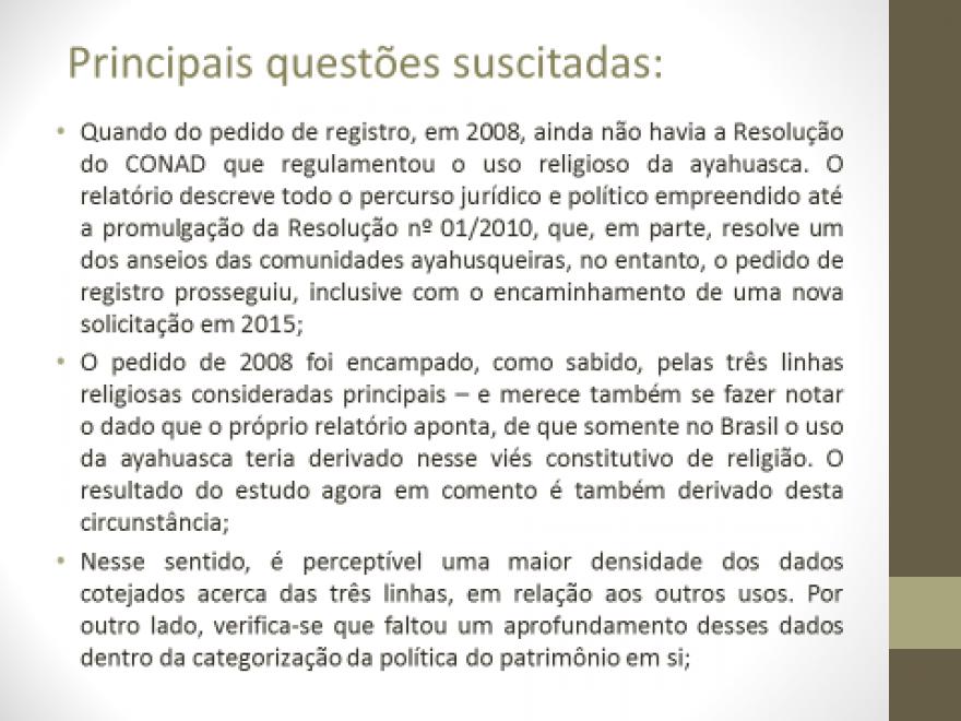 Apresentação do levantamento preliminar do INRC - Ayahuasca