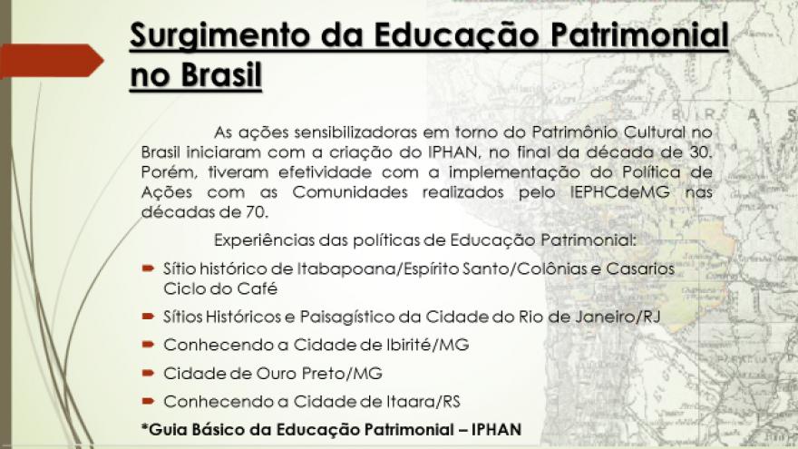Palestra Educação Patrimonial Aretuza 3