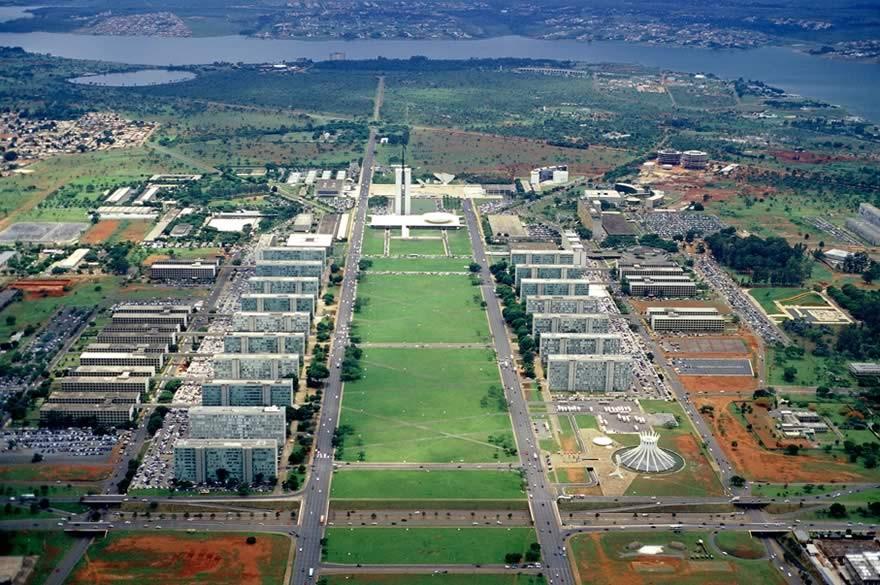 Vista aérea da Esplanada dos Ministérios
