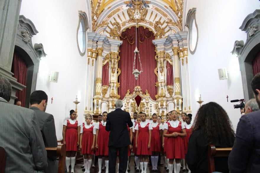 Evento das obras de restauração de Minas Gerais