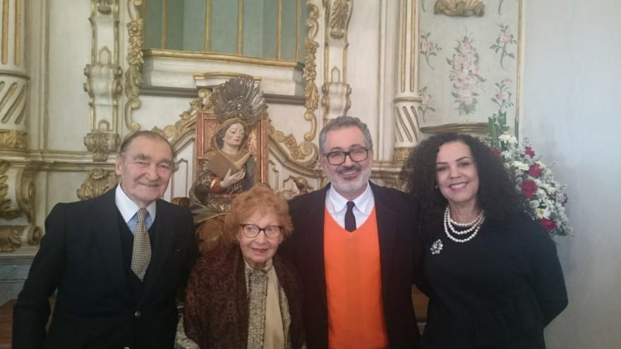 Jacques Boulieu e Maria Helena Boulieu, Luiz Fernando de Almeira, Diretor do Instituto Pedra e presidente do Iphan, Kátia Bogéa