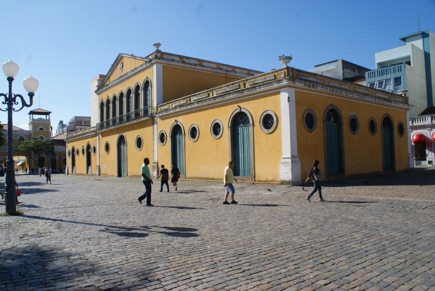Prédio na rua Conselheiro Mafra, que foi sede da antiga Alfândega e da Delegacia da Receita Federal