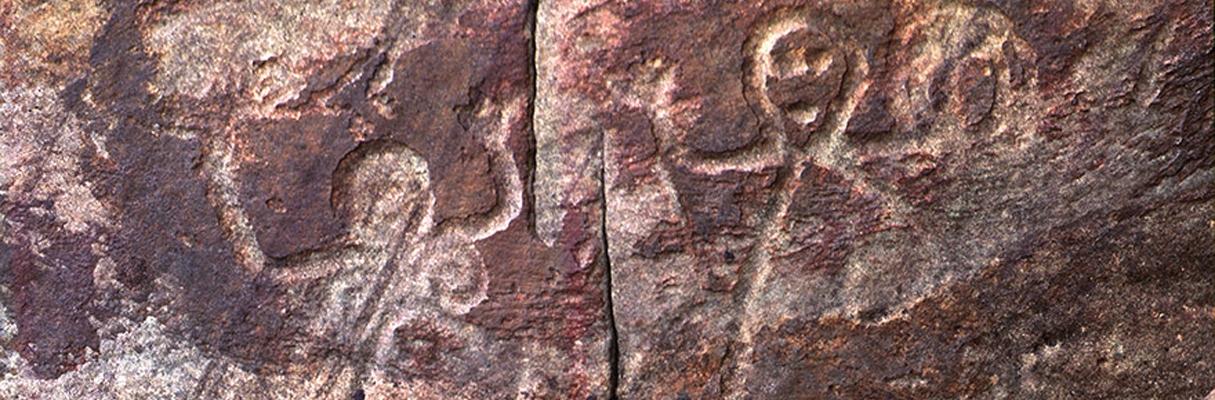 Arte rupestre no rio Negro