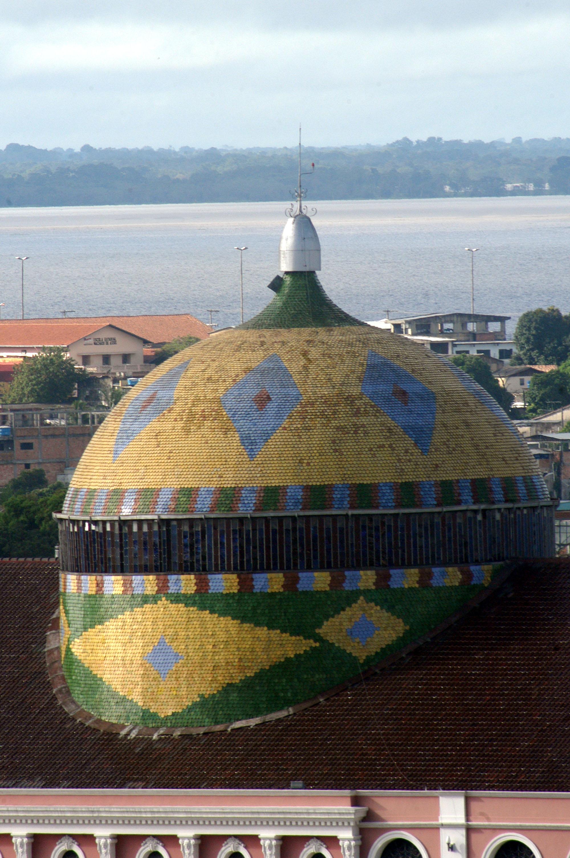 Cúpula do Teatro Amazonas, em Manaus (AM)