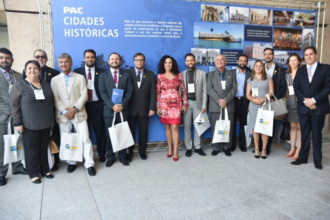 Autoridades presentes no 3º Encontro Brasileiro das Cidades Históricas Turísticas e Patrimônio Mundial