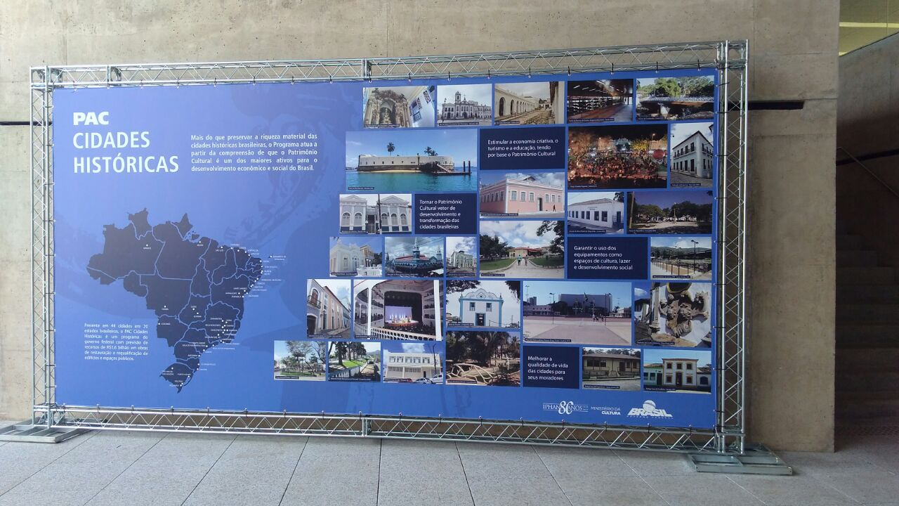 Banner mapeia ações do PAC Cidades Históricas