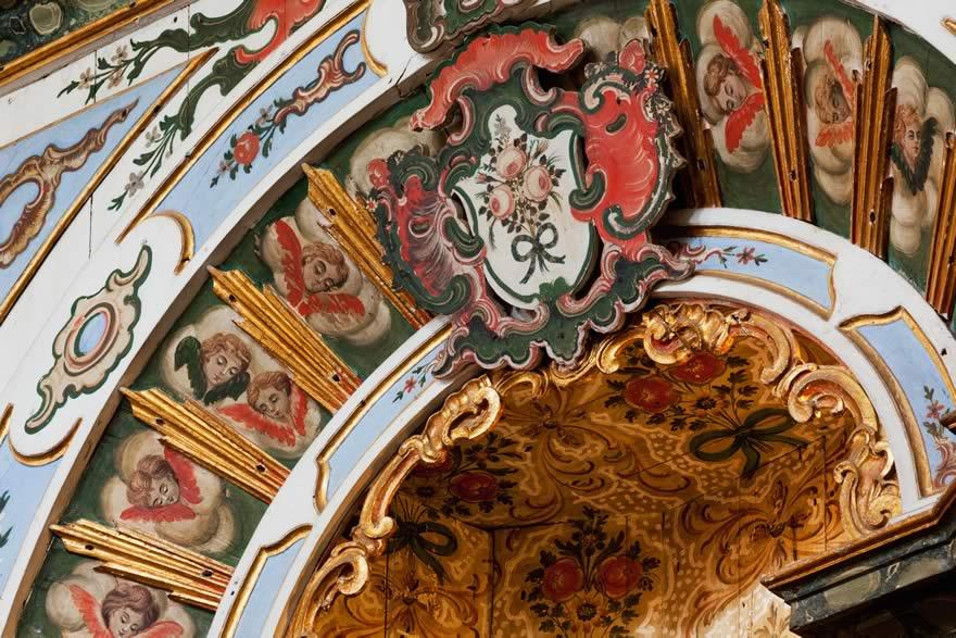 Detalhe da decoração da Igreja de Nossa Senhora do Rosário