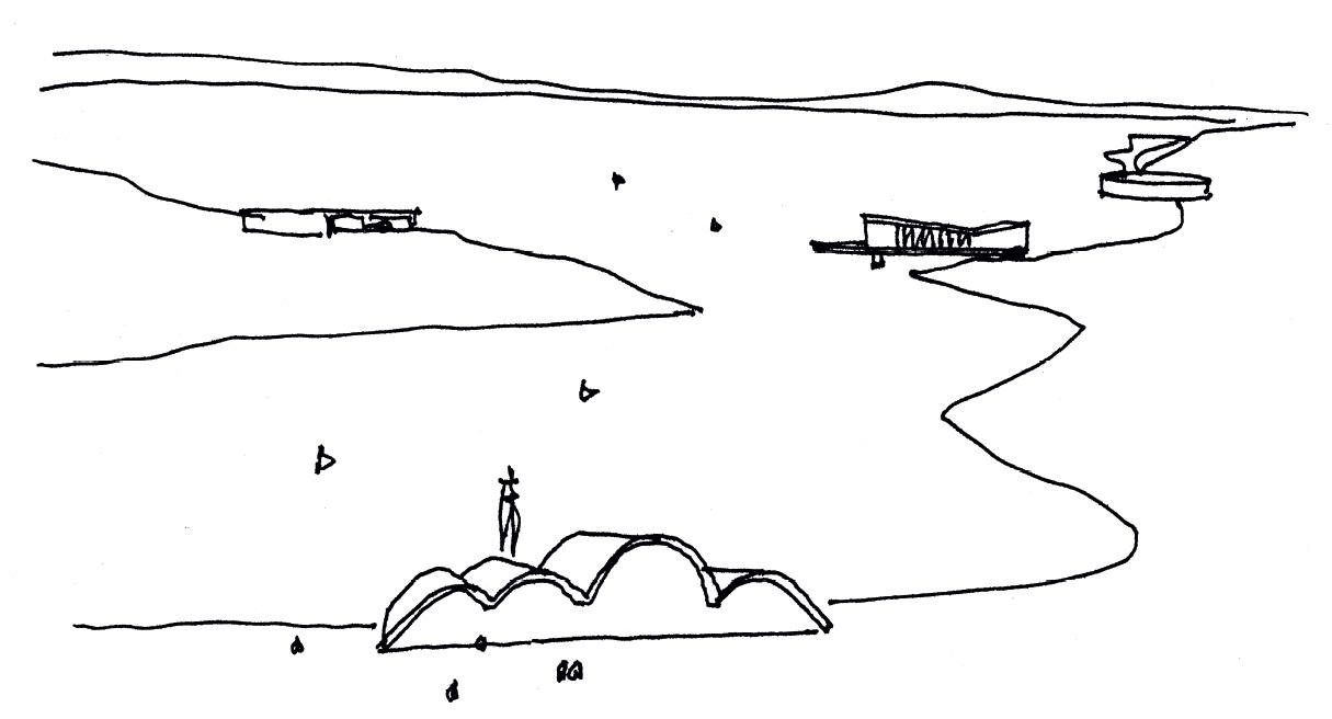 Desenho do arquiteto Oscar Niemeyer