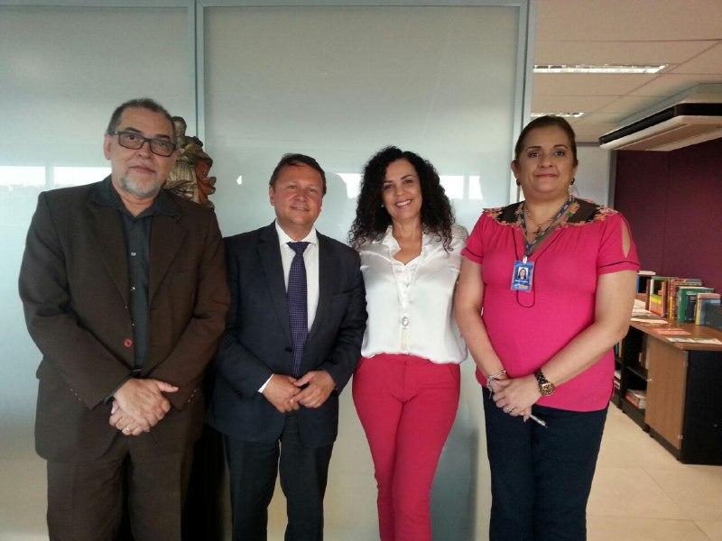 Marcelo Brito, Mário Ribas, Kátia Bogéa e Marta Feitosa discutem parceria do Iphan com a CNM e a OCBPM