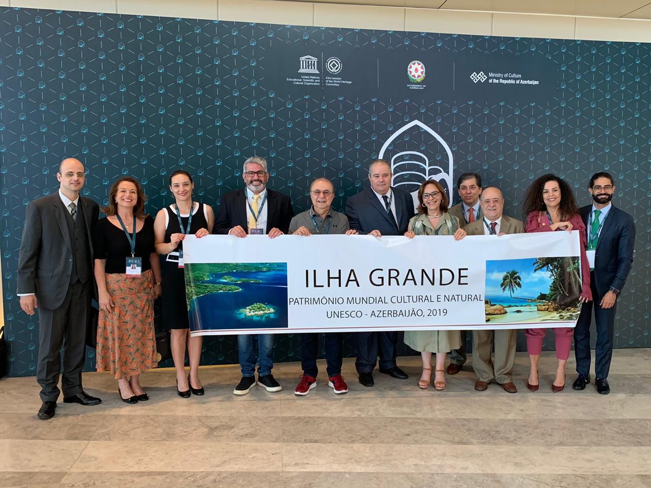 Delegação brasileira no Comitê do Patrimônio Mundial em 2019