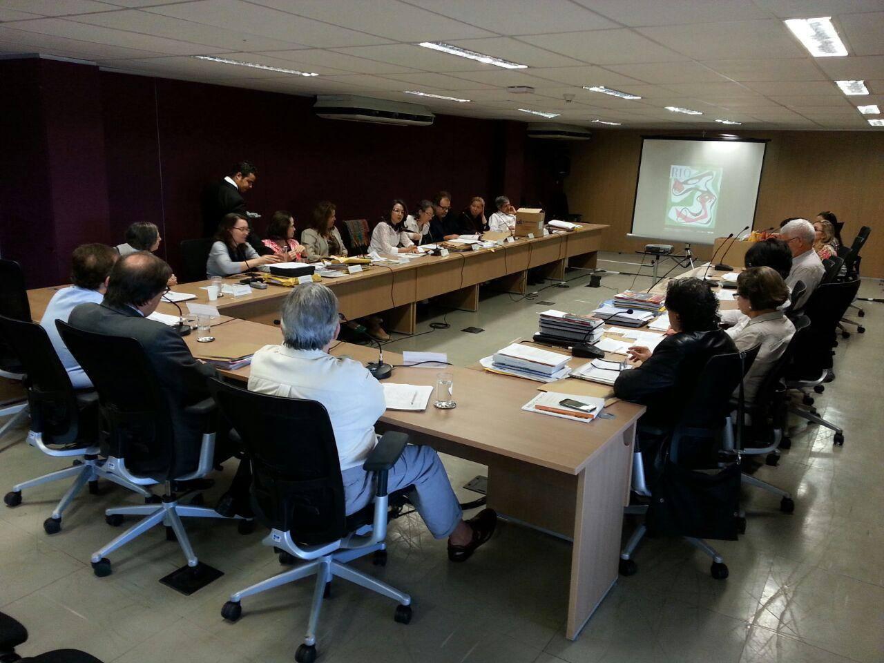 Reunião da Comissão Nacional de Avaliação do Prêmio Rodrigo Melo Franco de Andrade. Foto Acervo Iphan