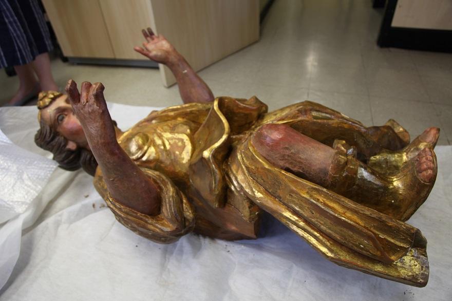 A origem da escultura de 1 metro e 20 centímetros remonta à primeira metade do século XVIII.